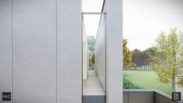 Modulaire prefab beton, minimalistische woning