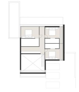 plattegrond Modulaire prefab, minimalistische betonwoning